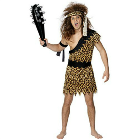 man dressed as a caveman