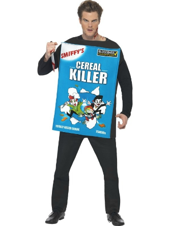 man dressed as a cereal box