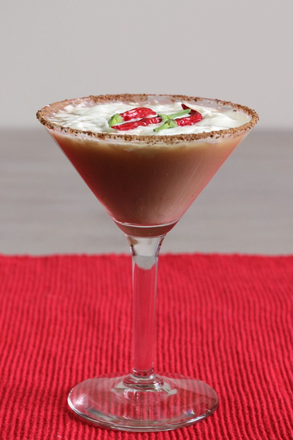 red hot santa tini